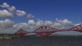 Time Lapse of the Forth Rail Bridge on a sunny day stock video footage