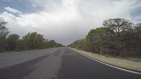 Time-Lapse Forward looking view of car driving stock video footage