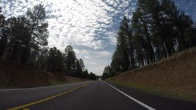 Time-Lapse Forward looking view of car driving stock footage