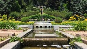 Time lapse the fountain in the flower gardens of Villa Toeplitz, Varese, Italy. stock video