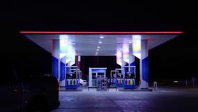 Time lapse of gas station