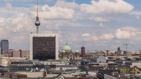 Time lapse in Germany, Berlin motion video stock video