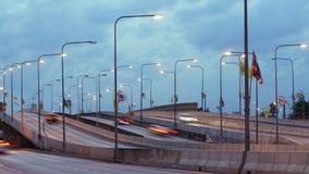 TIME LAPSE: Giorno di traffico alla notte in TAILANDIA archivi video