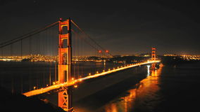 Time Lapse of the Golden Gate Bridge San Francisco at Night - Clip 2 stock video