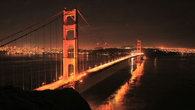 Time Lapse of the Golden Gate Bridge San Francisco at Night - Clip 1 stock video