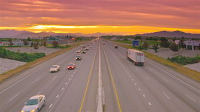 Time lapse golden sunset road rush. Video of time lapse golden sunset road rush stock video