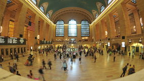 Time Lapse of Grand Central Station - New York - 4K - 4096x2304. Busy Concourse - Grand Central Station stock footage