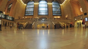 Time Lapse of Grand Central Station - New York - 4K - 4096x2304. Busy Concourse - Grand Central Station stock video