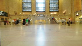 Time Lapse of Grand Central Station - New York - 4K - 4096x2304. Busy Concourse - Grand Central Station stock video footage