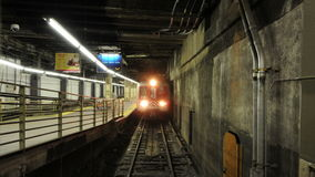 Time Lapse of Grand Central Station Subway Platform - 4K - 4096x2304 stock video footage
