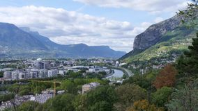 Cityscape of Grenoble in France. stock video