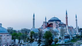 Time Lapse of Hagia Sophia stock footage