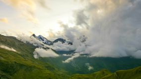 Time lapse of heavy clouds in Alpine landscape. Grossglockner Hochalpenstrasse, Autria, Europe Stock Photos