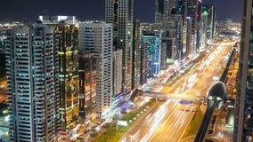 Time lapse on high light street in dubai. 4k time lapse on high light traffic road in dubai stock video