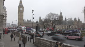 Time lapse. Historic building - the Palace of Westminster. stock video