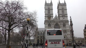 Time lapse. Historic building - Westminster Abbey. stock video footage
