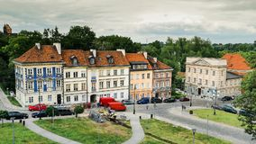 Time lapse of historical warsaw buildings stock video