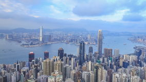 Time-lapse of Hong Kong city, view from The Peak