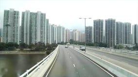 Time Lapse through Hong Kong stock video