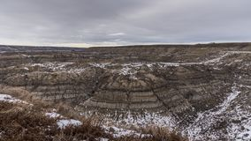 Time-lapse of Horsetheif Canyon in winter stock video footage