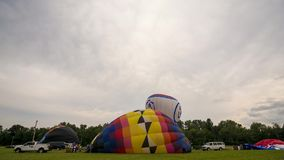 Time Lapse Hot Air Balloon Inflation stock footage