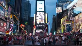 Time lapse of human traffic in Times Square stock footage