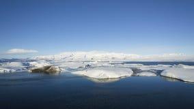 Time lapse of ice blocks at glacier lagoon Jokulsarlon, Iceland,. Time lapse of ice blocks at glacier lagoon Jokulsarlon, Iceland in wintertime, 4K stock video