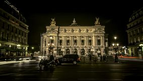 Time lapse of Opera Garnier in Paris stock footage