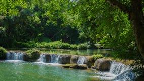 Time-lapse of Jed-Sao-Noi Little Seven-girl Waterfall at Saraburi, THAILAND stock footage