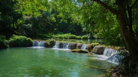 Time-lapse of Jed-Sao-Noi Little Seven-girl Waterfall at Saraburi, THAILAND stock video footage