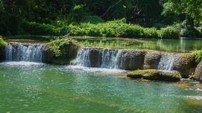 Time-lapse of Jed-Sao-Noi Little Seven-girl Waterfall at Saraburi, THAILAND stock video