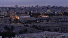 Time-lapse of Jerusalem by sunset stock video footage