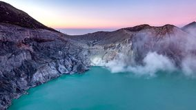 Time lapse Kawah ijen volcanos. stock video