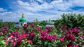 Time lapse of the Kiev-Pechersk Lavra Kiev church, monastery, religion stock video