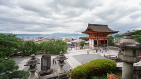 Time Lapse of Kiyomizu Dera and tourists in Kyoto, Japan stock video