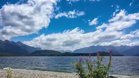 Time lapse at Lake Manapouri, New Zealand stock video footage