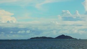Time lapse of landscape at Seychelles islands stock footage