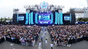 Time Lapse of Large Crowd at Electronic Music Festival Tokyo Japan. Electronic Music Festival Tokyo Japan stock video