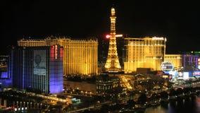 Time lapse Las Vegas skyline night stock video footage