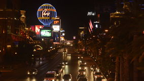 Time Lapse of the Las Vegas Strip at Night stock video footage