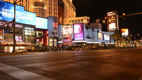 Time Lapse of the Las Vegas Strip at Night stock footage