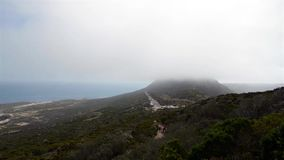 Time lapse of low clouds over Cape Point, South Africa stock footage