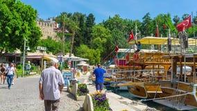 Time-lapse of marina of Antalya stock video