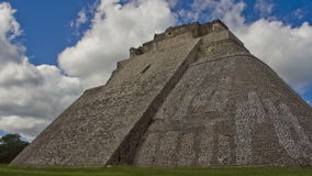 Time-lapse of the mayan ruins at Uxmal, Mexico. stock footage