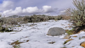 Time lapse melting snow stock video footage