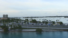 Time Lapse of Miami Causeway with Traffic stock footage