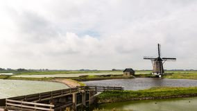 Time lapse of mill Texel stock video footage