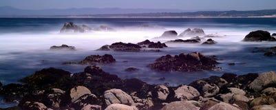 Time Lapse Monterey Bay California. Soft focus slow shutterspeed Monterey Bay California Stock Images