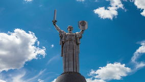 Time lapse monument Motherland mother a symbol of victory in the war stock footage