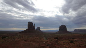 Time Lapse  of Monument Valley at Sunrise - 4K - 4096x2304 stock video footage